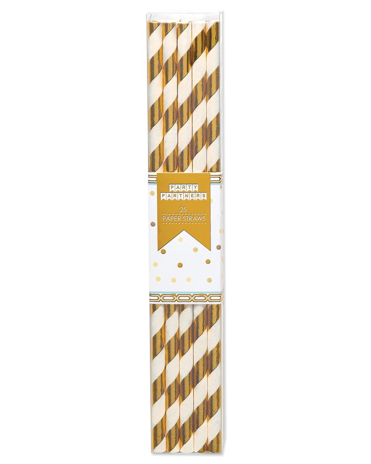 Party Partners Straws, 25-Count