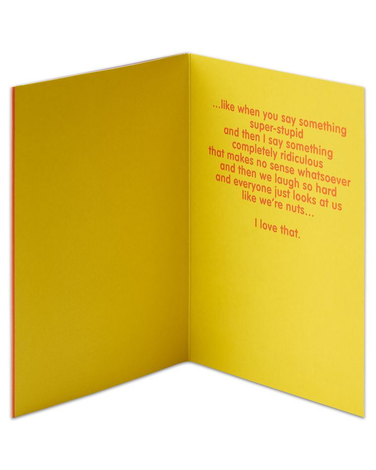 you get me thinking of you card