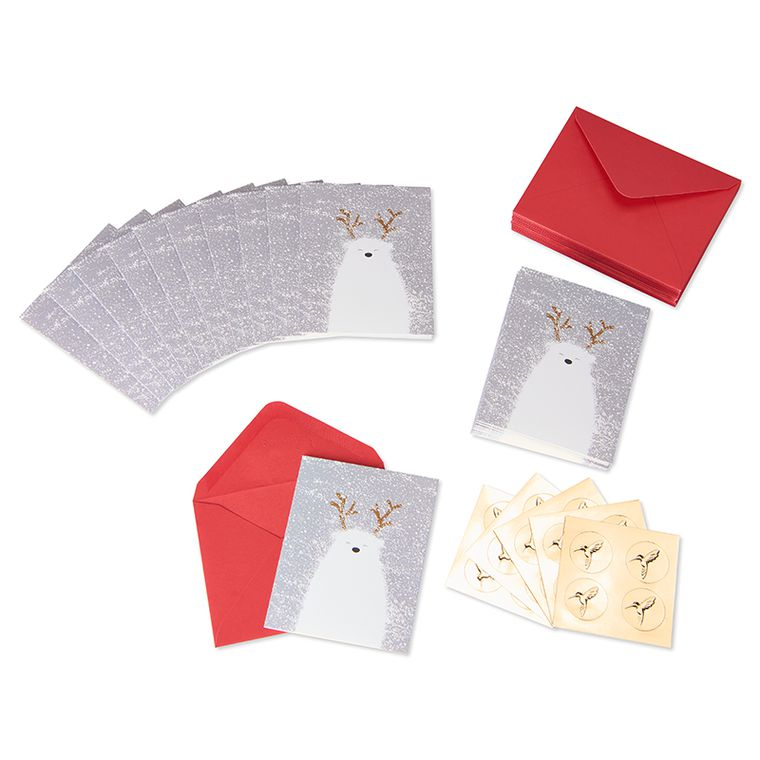 Polar Bear Holiday Boxed Cards, 20-Count