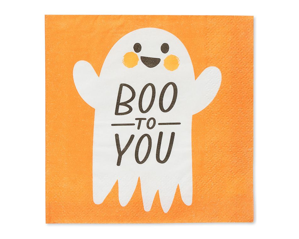 Boo Paper Beverage Napkins, 16-Count
