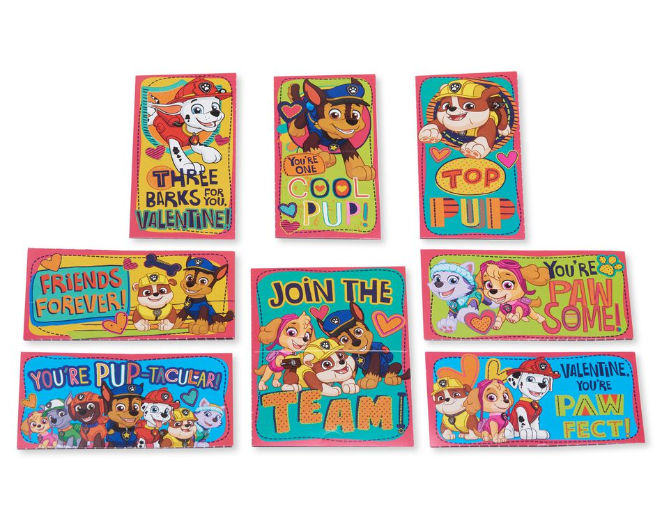 Nickelodeon Paw Patrol Hearts Valentine's Day Exchange Cards, 32-Count