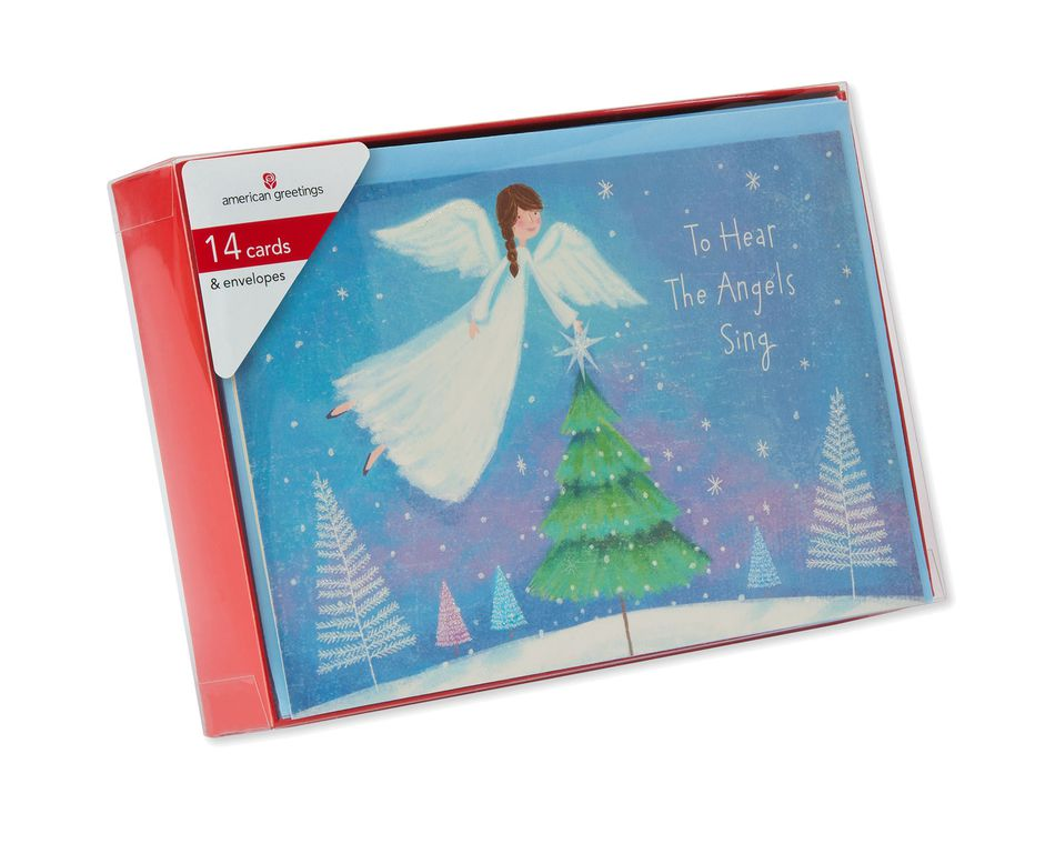 Angel Christmas Boxed Cards, 14 Count - American Greetings