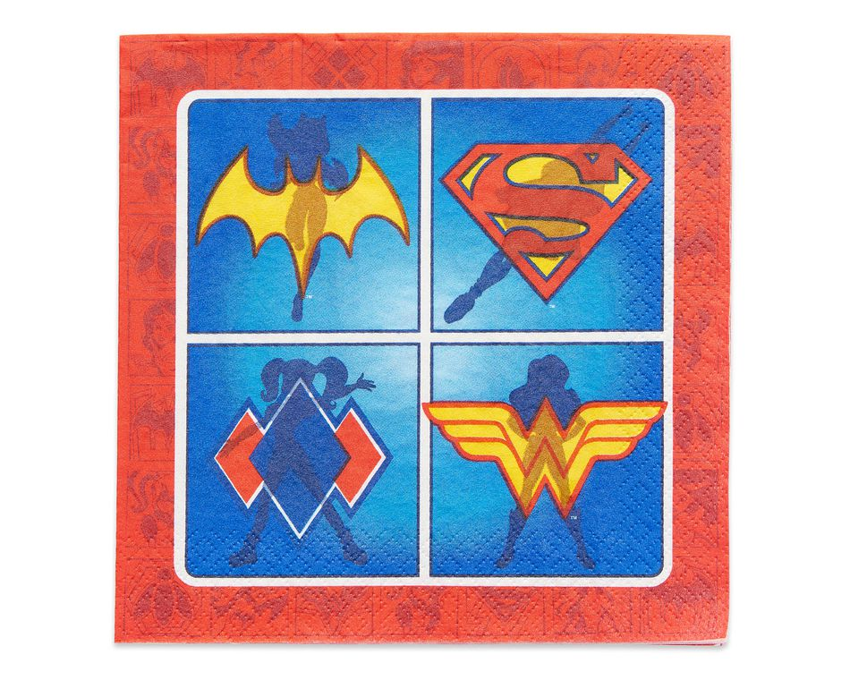 DC Super Hero Girls Lunch Napkins, 16 Count