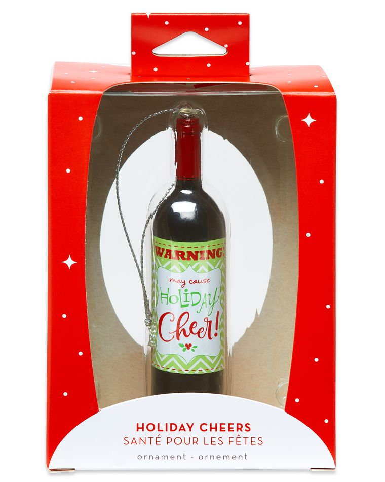 Wine Bottle Christmas Ornament