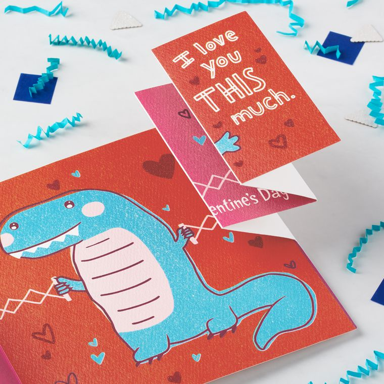 Dinosaur Valentine's Day Card