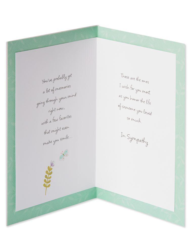 Butterflies Sympathy Card
