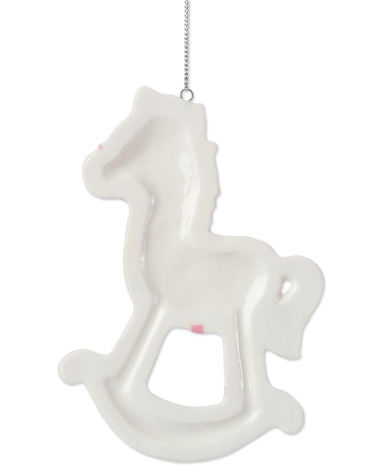 Girl Rocking Horse Christmas Ornament