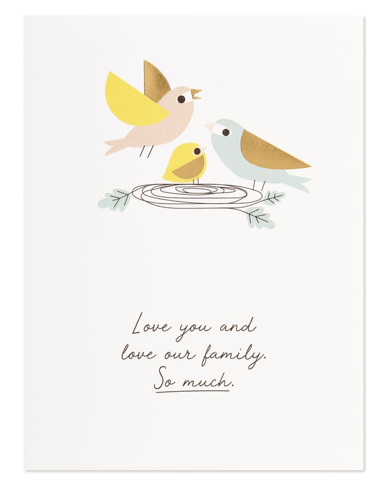 love our family romantic mother's day card