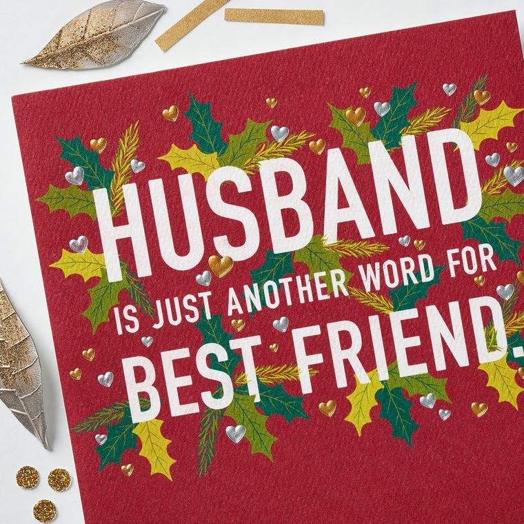 Best Friend Christmas Card for Husband