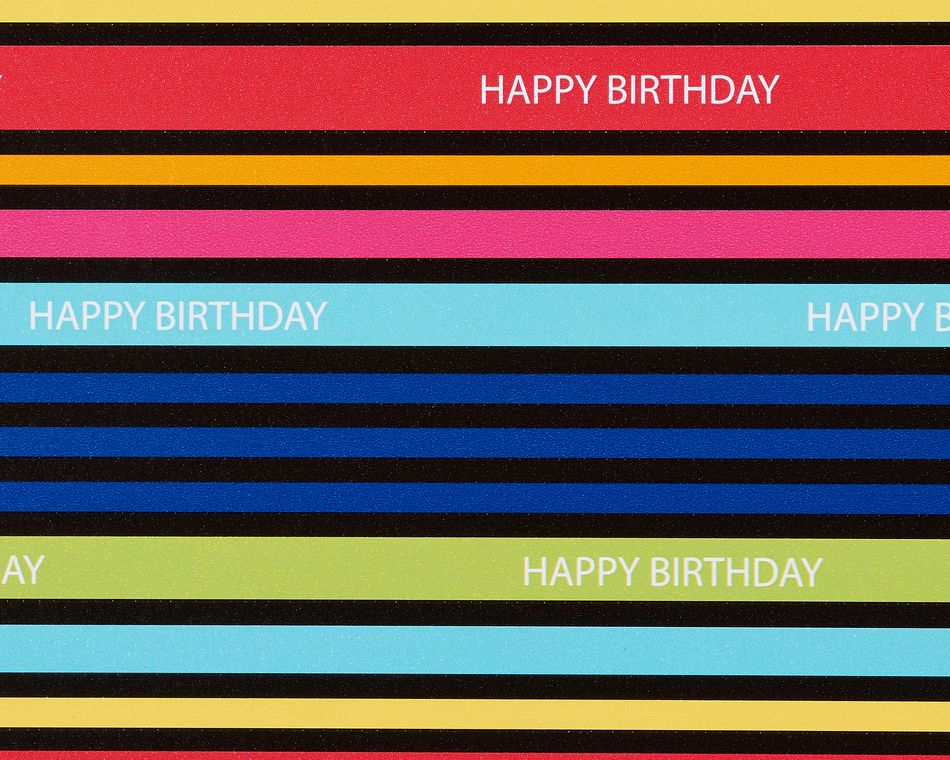 Birthday Wrapping Paper Sheets Bundle, 6 Count