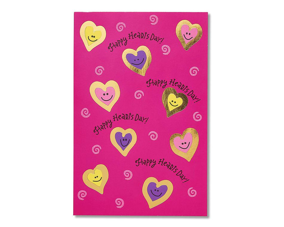 Happy Hearts Day Valentine's Day Cards , 6-Count