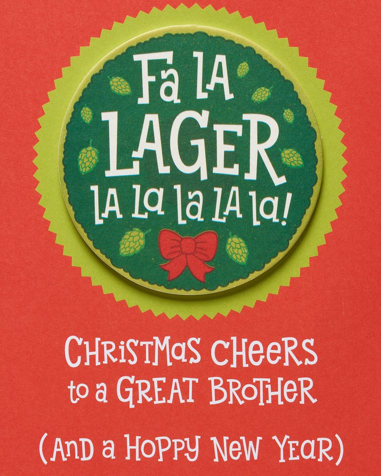 Lager Christmas Card for Brother
