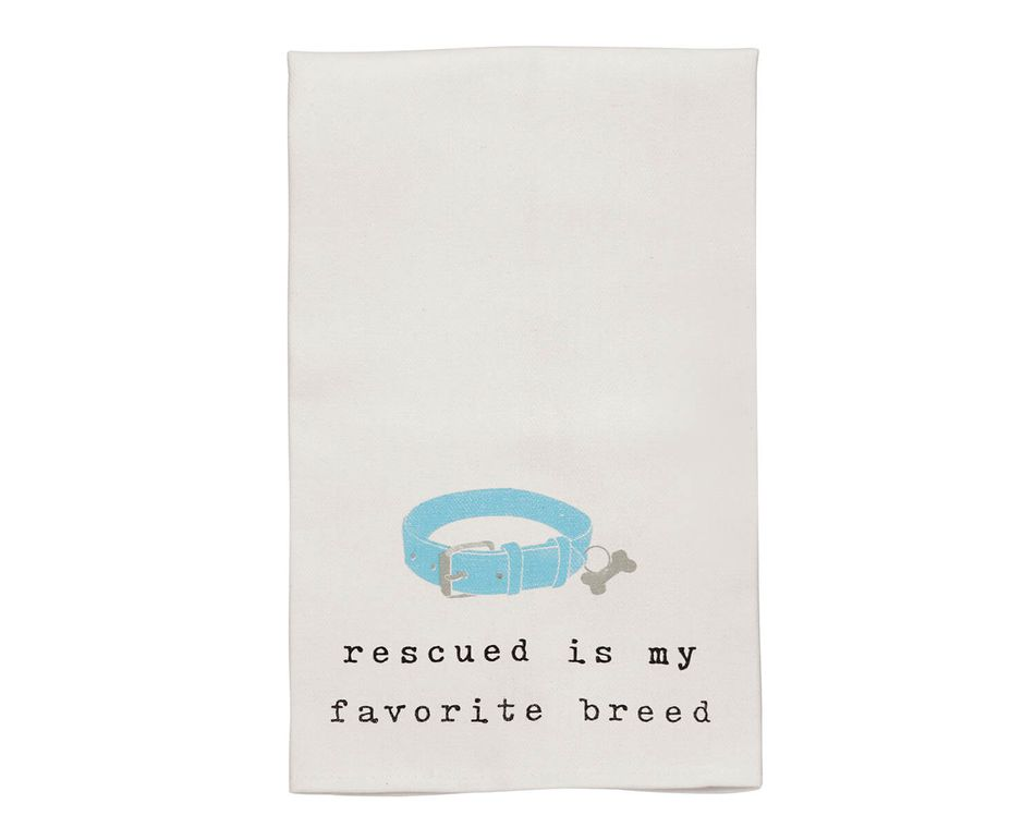 Mud Pie Dog Collar Dish Towel