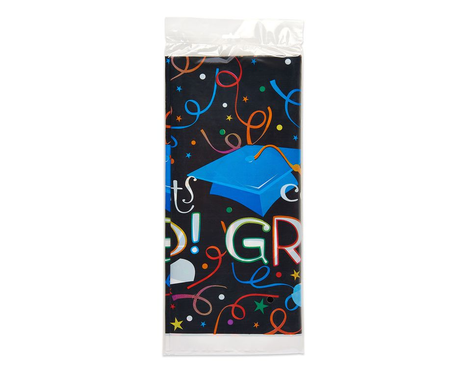 congrats grad plastic table cover 54 in x 84 in
