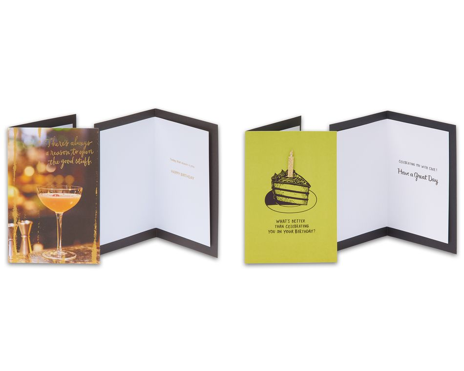 Bold Birthday Greeting Card Collection, 8-Count