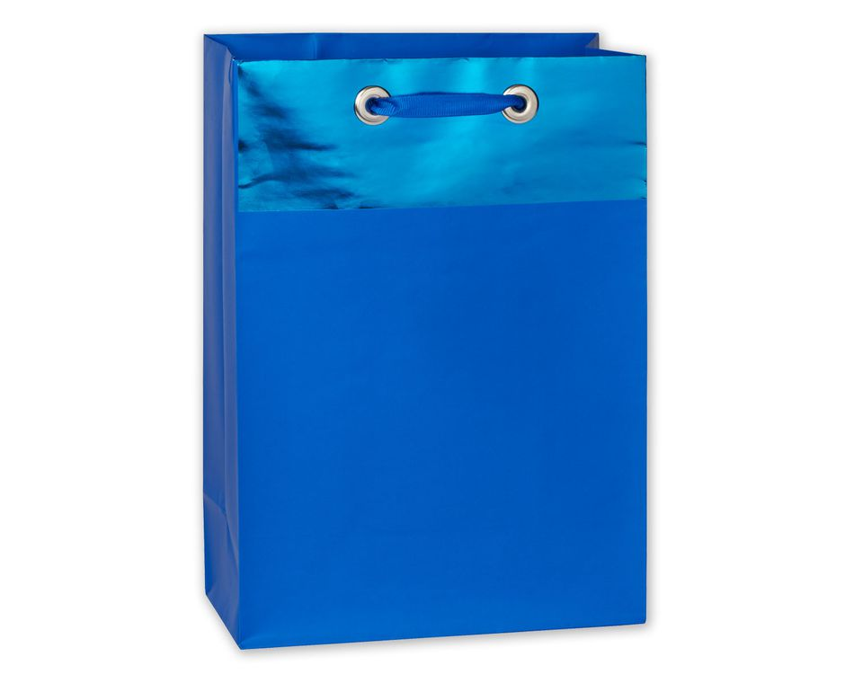 jumbo blue metallic gift bag