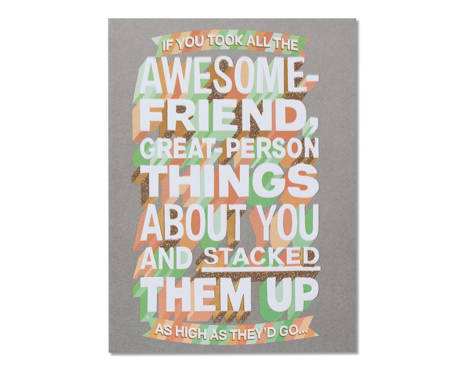 Awesome Friend Thinking of You Card