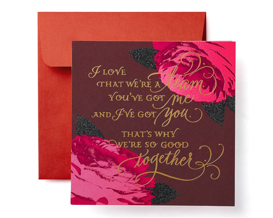 Floral Valentine's Day Card for Wife