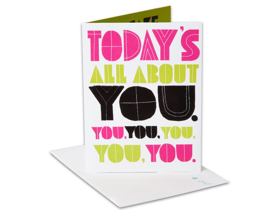 All About You Birthday Card