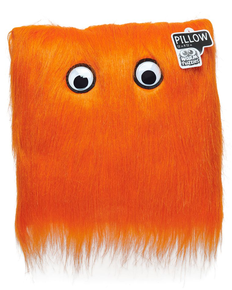 Warm Fuzzy Orange Pillow