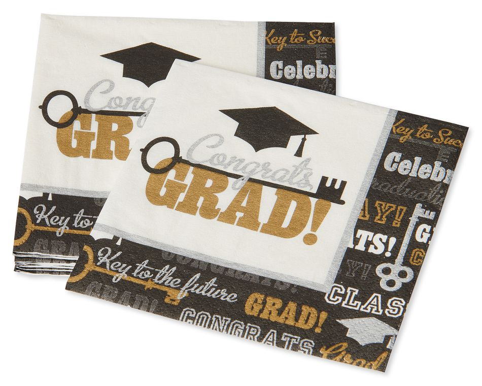 Graduation Beverage Napkins, 16-Count