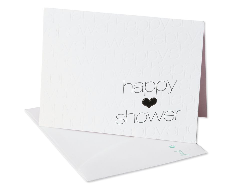 happy thoughts bridal shower card