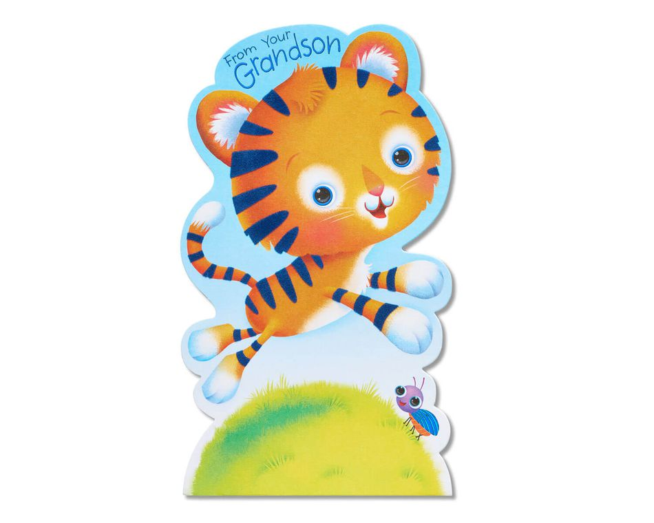 Tiger Father's Day Card for Grandpa from Grandson