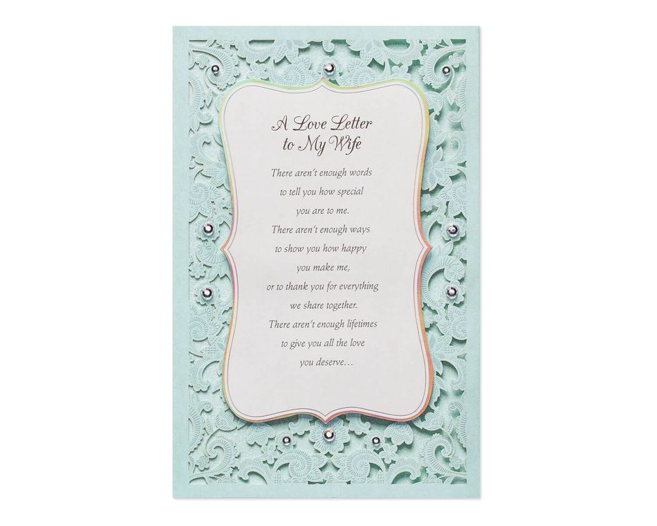 Love Letter To Your Wife.Love Letter Mother S Day Card For Wife