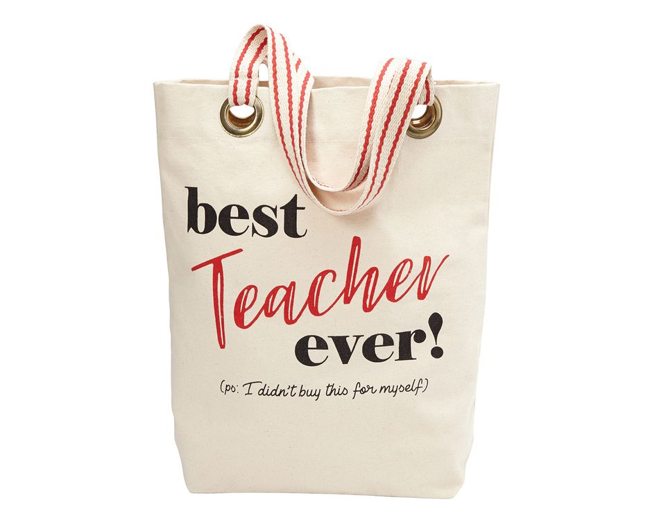 Mud Pie 'Best Teacher Ever' Tote