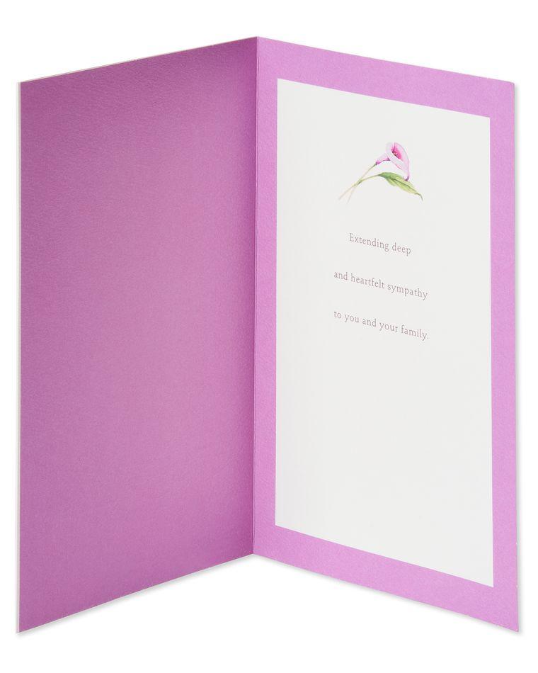 Purple Flower Sympathy Card