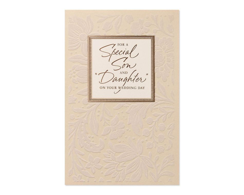 Son and daughter in law wedding card american greetings son and daughter in law wedding card m4hsunfo