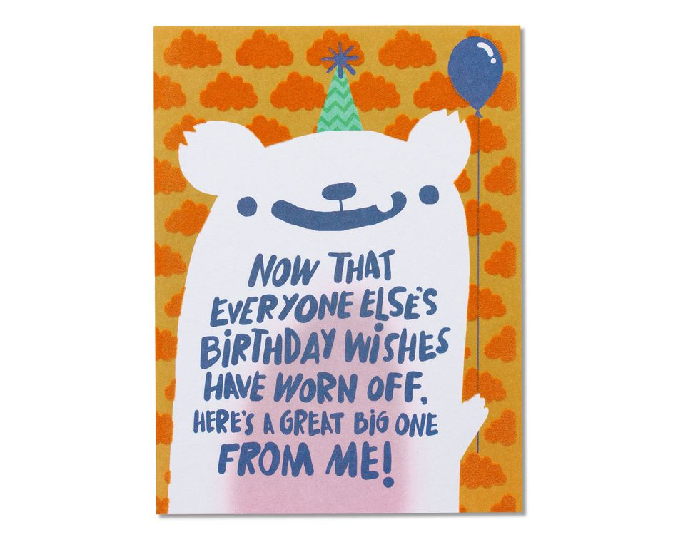 Birthday Wishes Belated Card