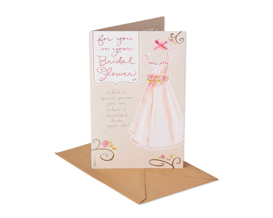Dress Bridal Shower Card
