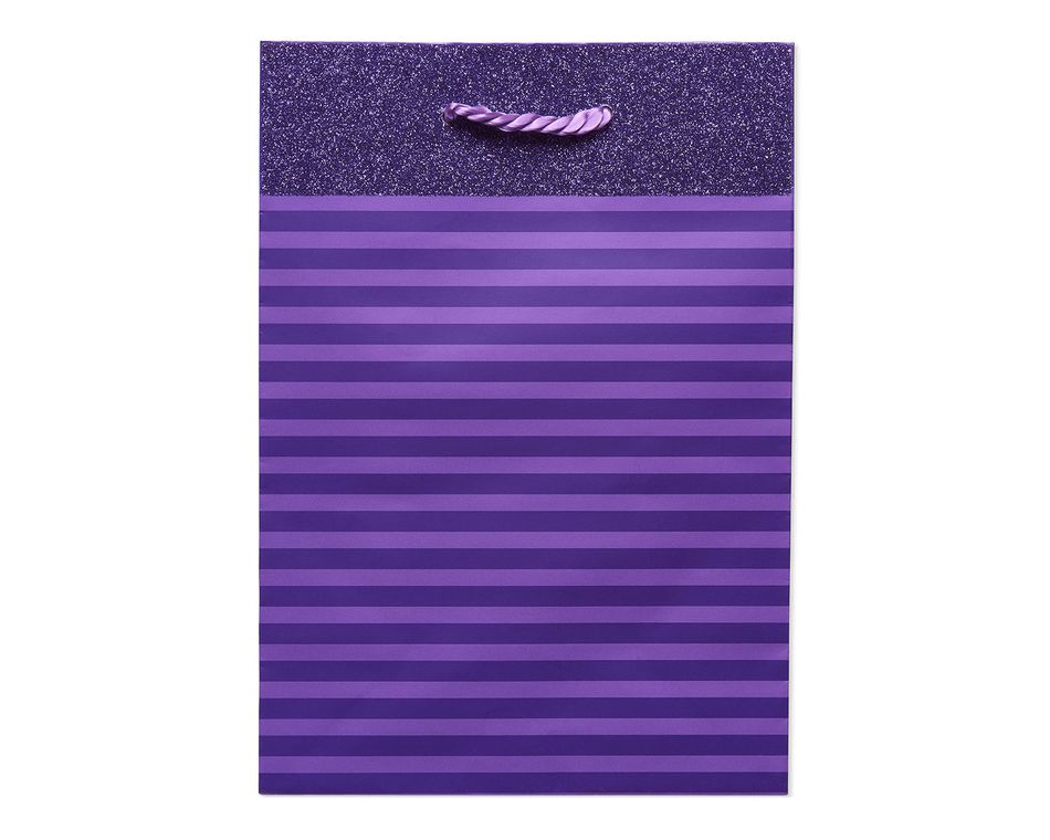 Small Purple Stripes with Glitter Gift Bag