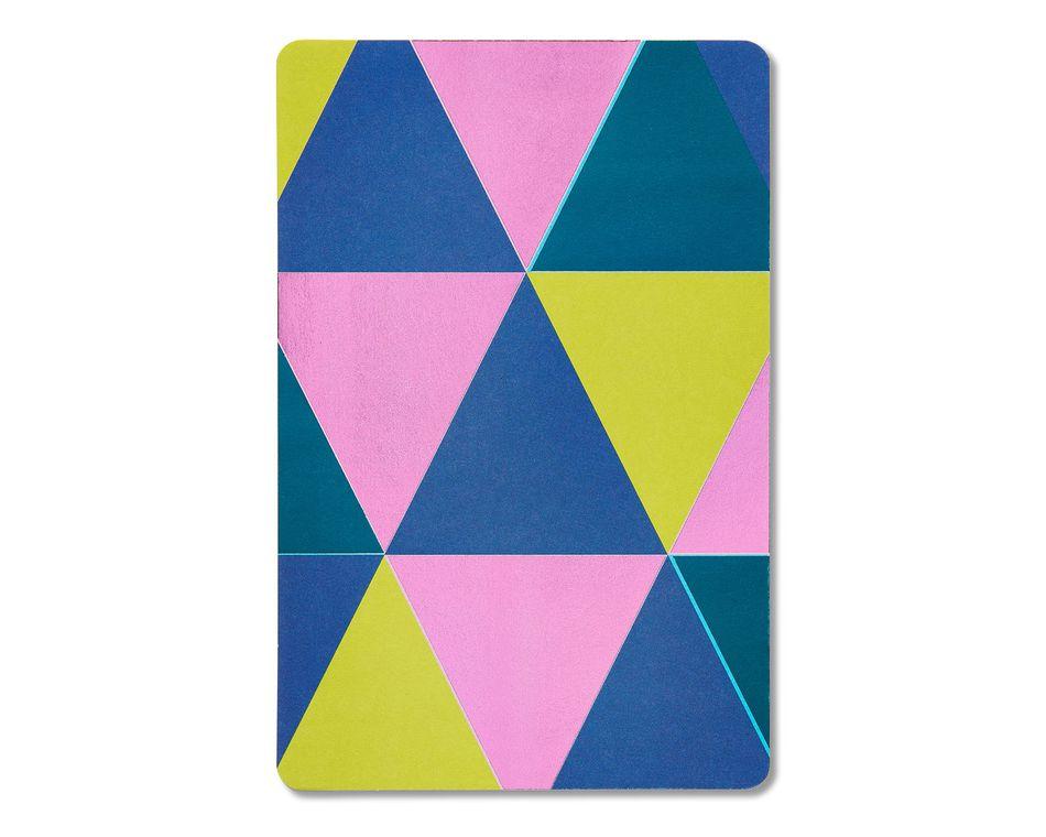 geometric blank card