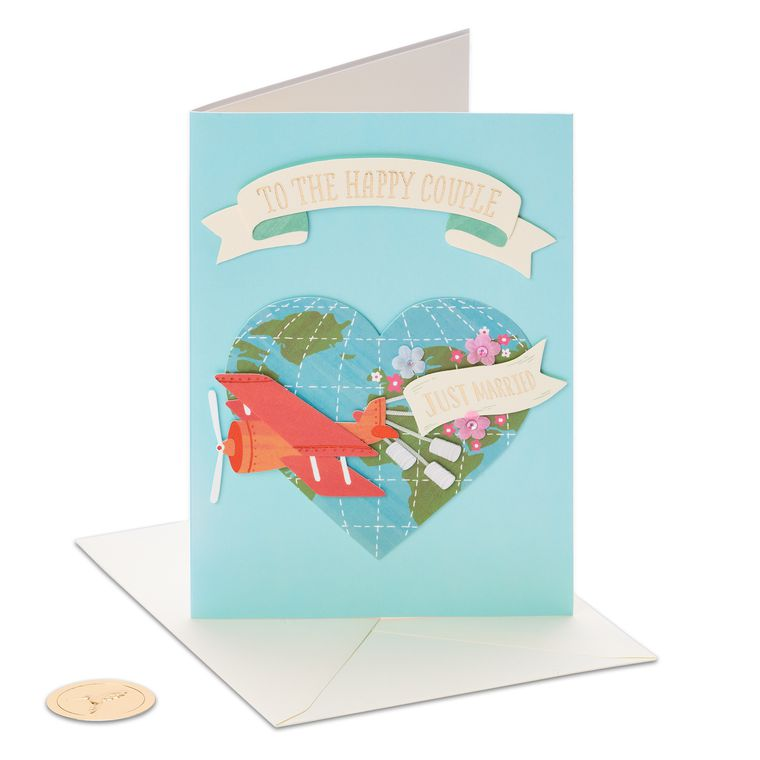 Just Married Wedding Greeting Card