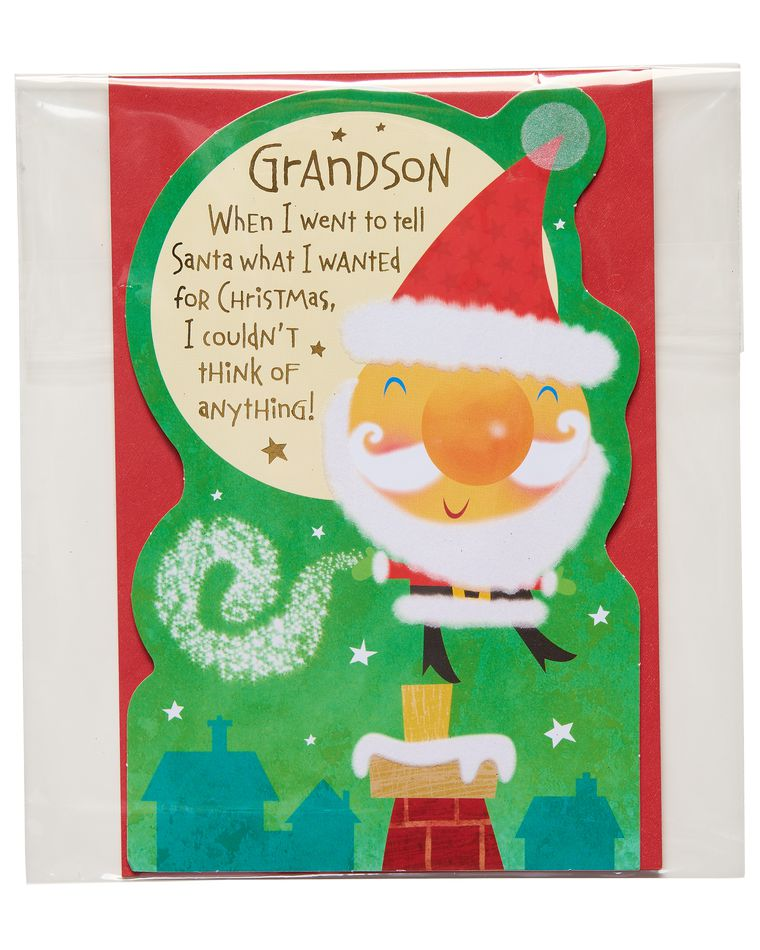 Santa Christmas Card for Grandson