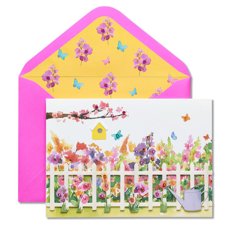 Gardening Scene Birthday Greeting Card