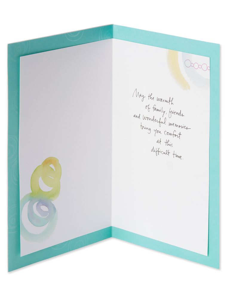 Our Thoughts Sympathy Card