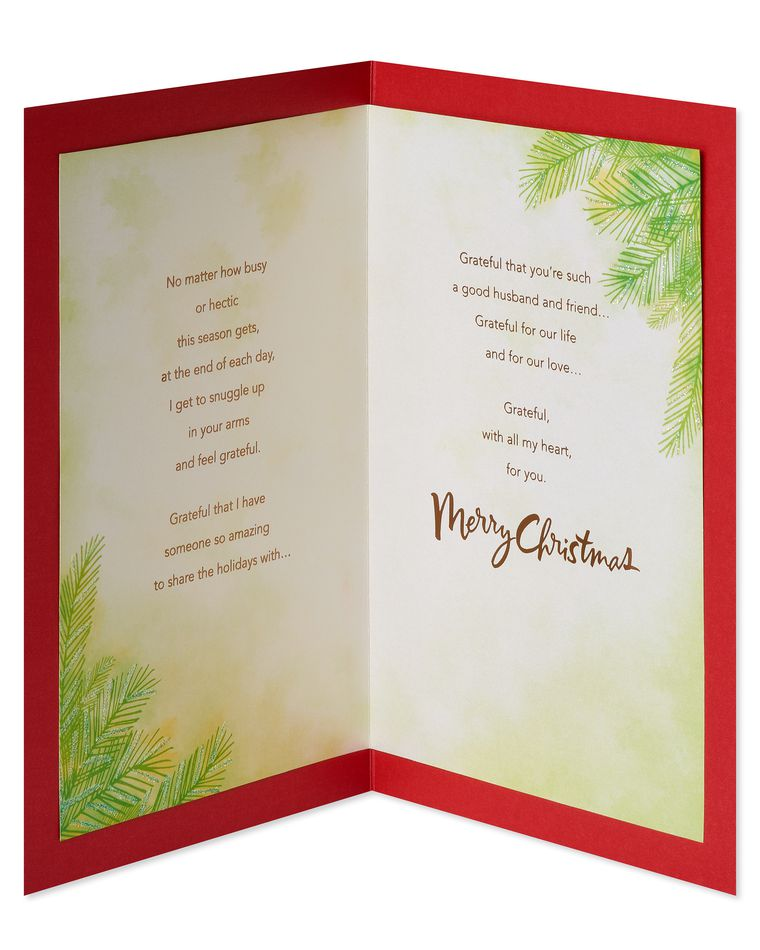 Grateful Christmas Card for Husband
