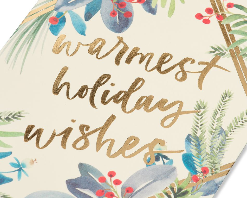 Warmest Wishes Holiday Boxed Cards, 14-Count