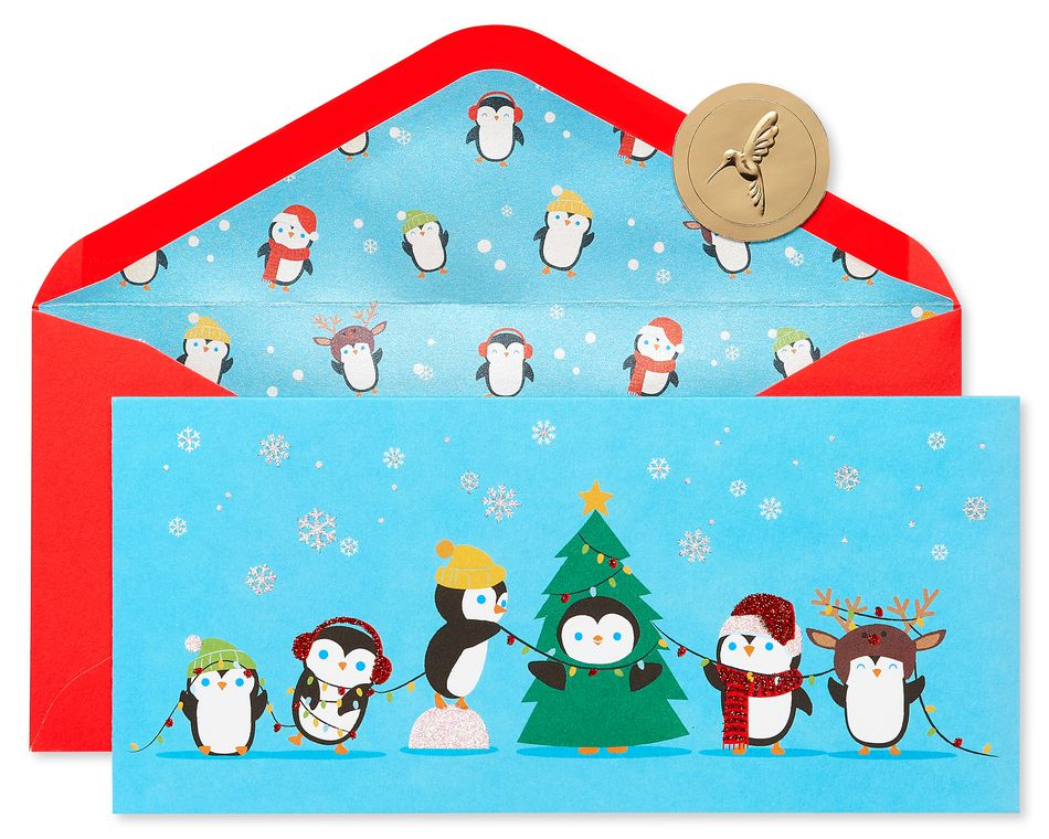 Penguins Holiday Boxed Cards, 16-Count