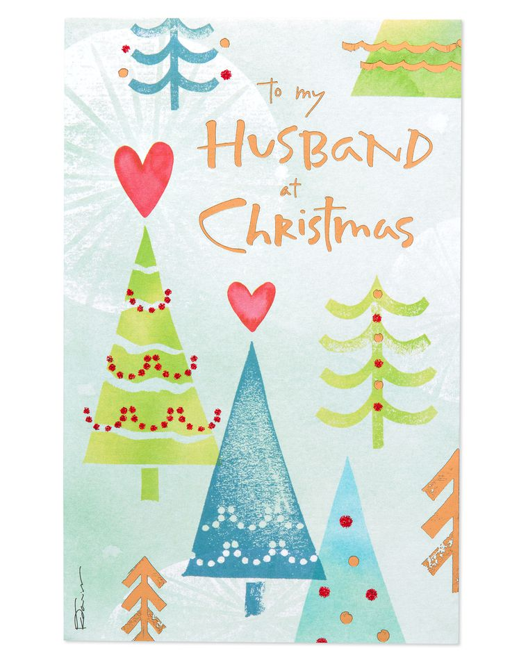 Christmas Trees Christmas Card for Husband