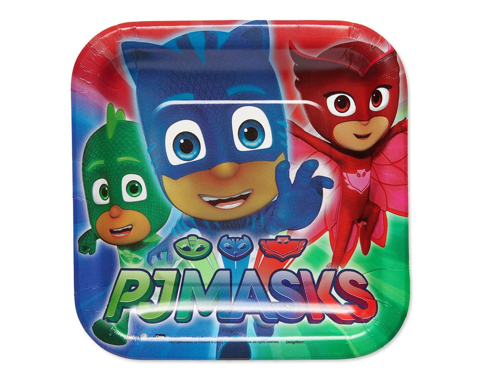 PJ Masks Dessert Square Plates- 8 Count