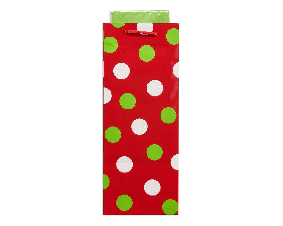 fun dots christmas combo beverage gift bag