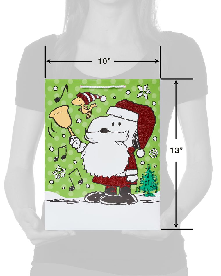 Peanuts Medium Christmas Gift Bag