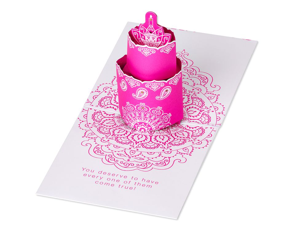 Cake Pop-Up Birthday Card with Music