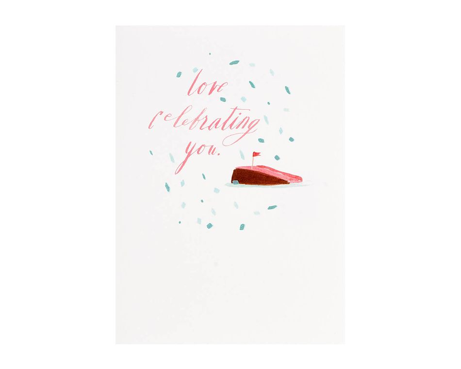 Love Celebrating You Birthday Card