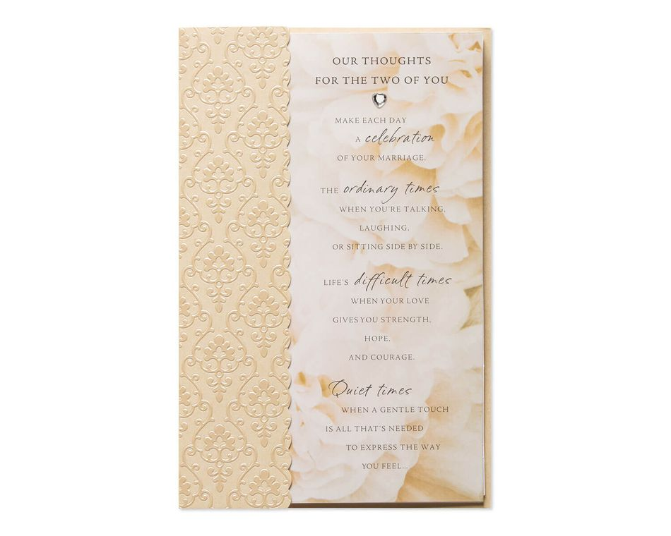 Our Thoughts Wedding Card American Greetings