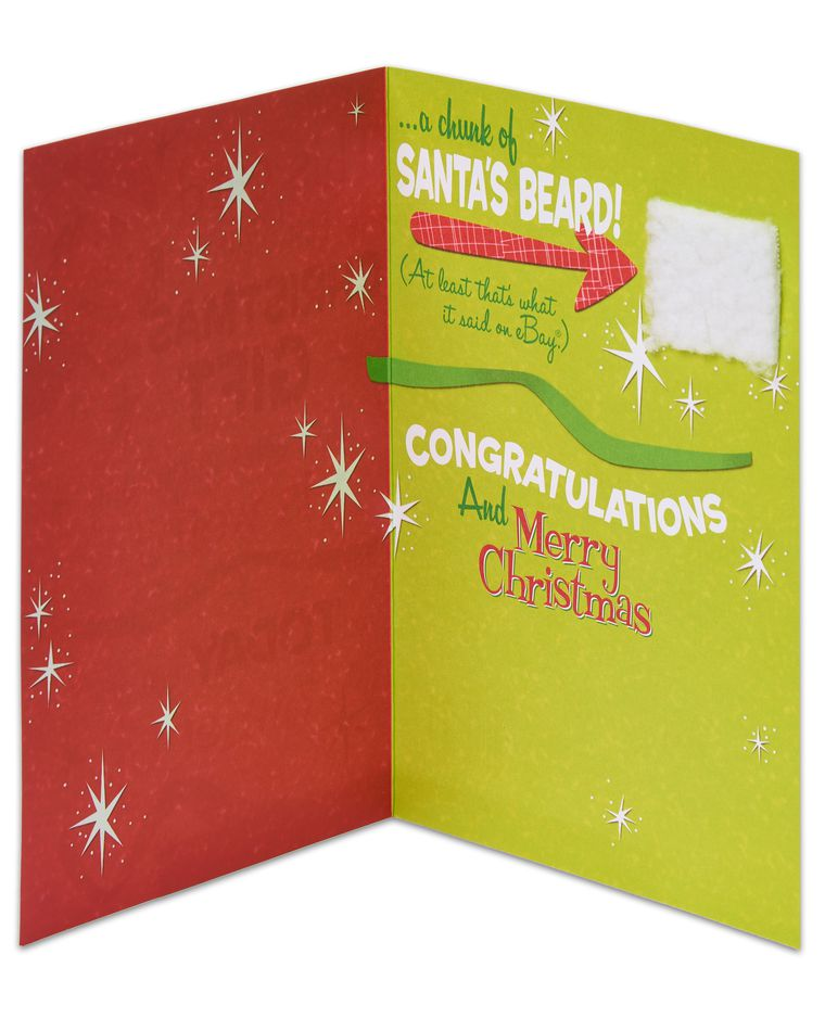 Funny Santa's Beard Christmas Card